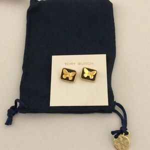 Nwot Tory Burch butterfly earrings